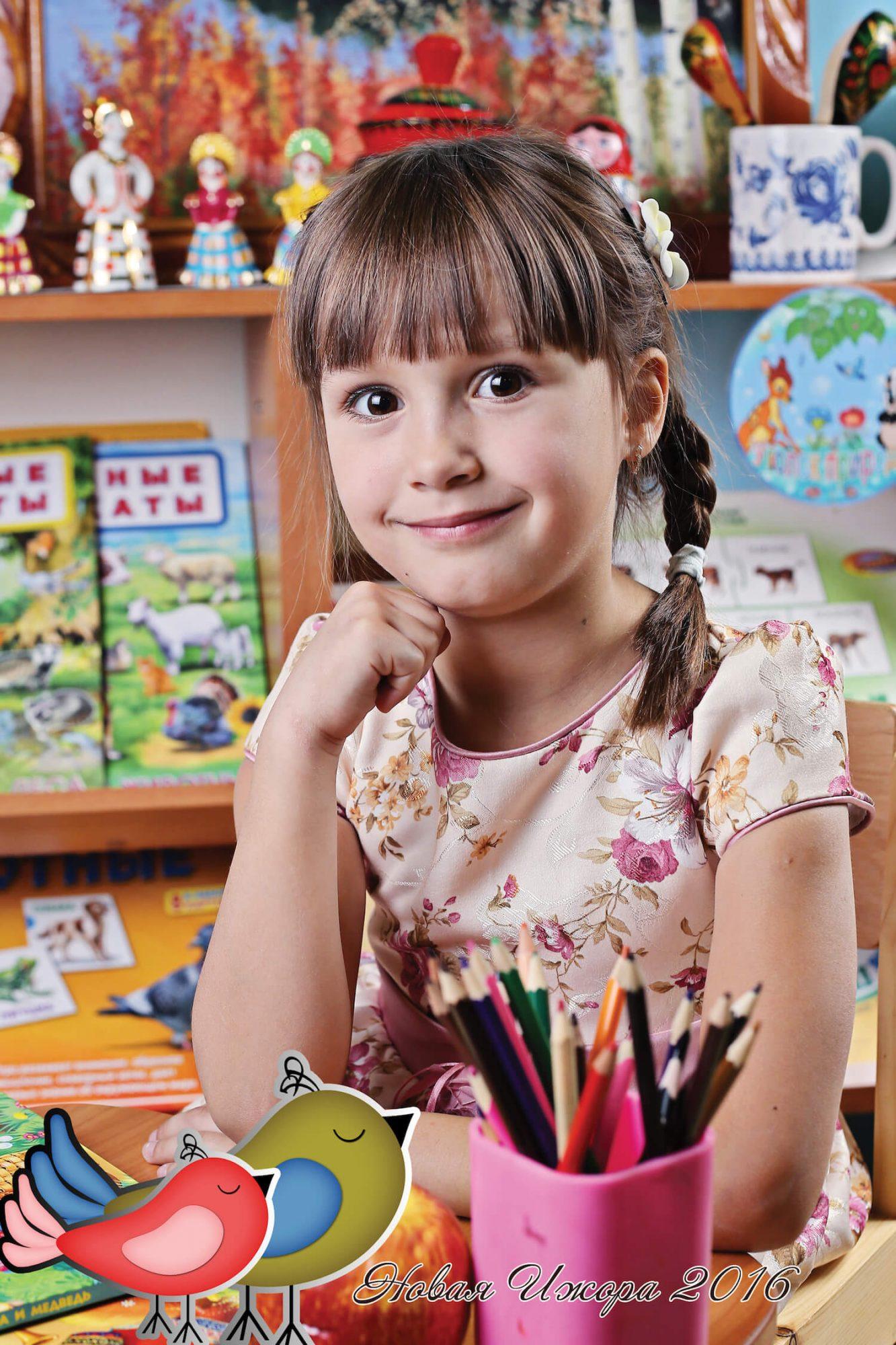 Портреты детей в детском саду